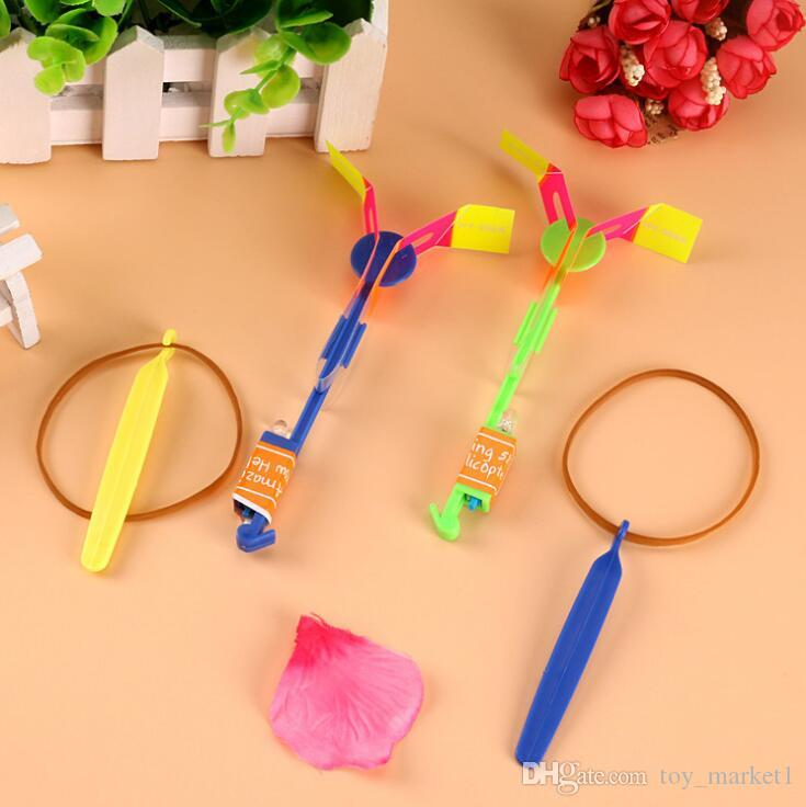Novelty Children Toys Amazing LED Flying Arrow Helicopter for Sports Funny Slingshot birthday party supplies Kids' Gift