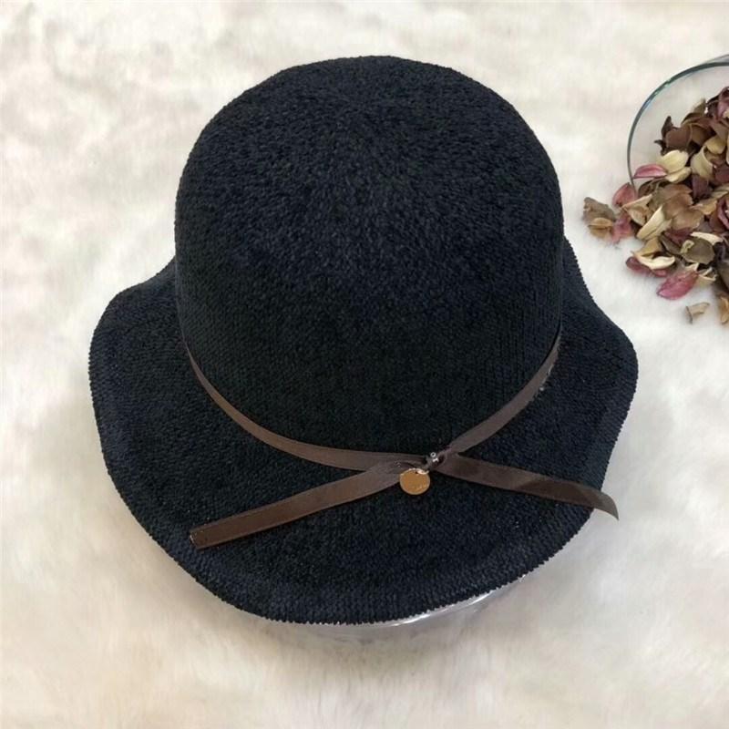 c3d2239433d New Arrval Famous Brand Women Hat Retro Silk Strap Stingy Brim Cap ...
