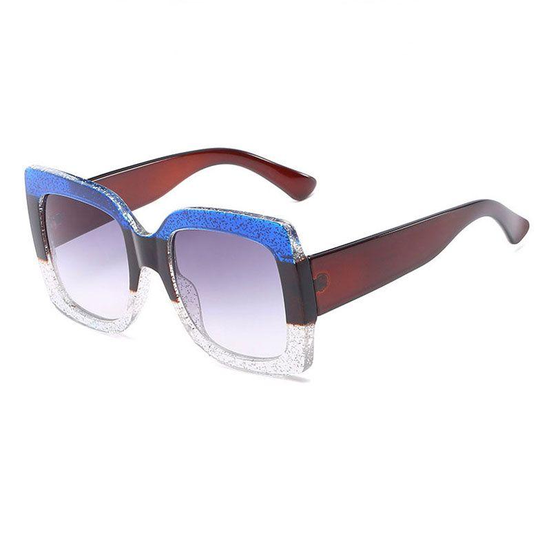 19a675f67d 2018 NEW Oversized Square Sunglasses Women Luxury Brand Designer Vintage  Sunglass Fashion Big Frame Sun Glasses UV400 Sunglasses For Women Cat Eye  ...