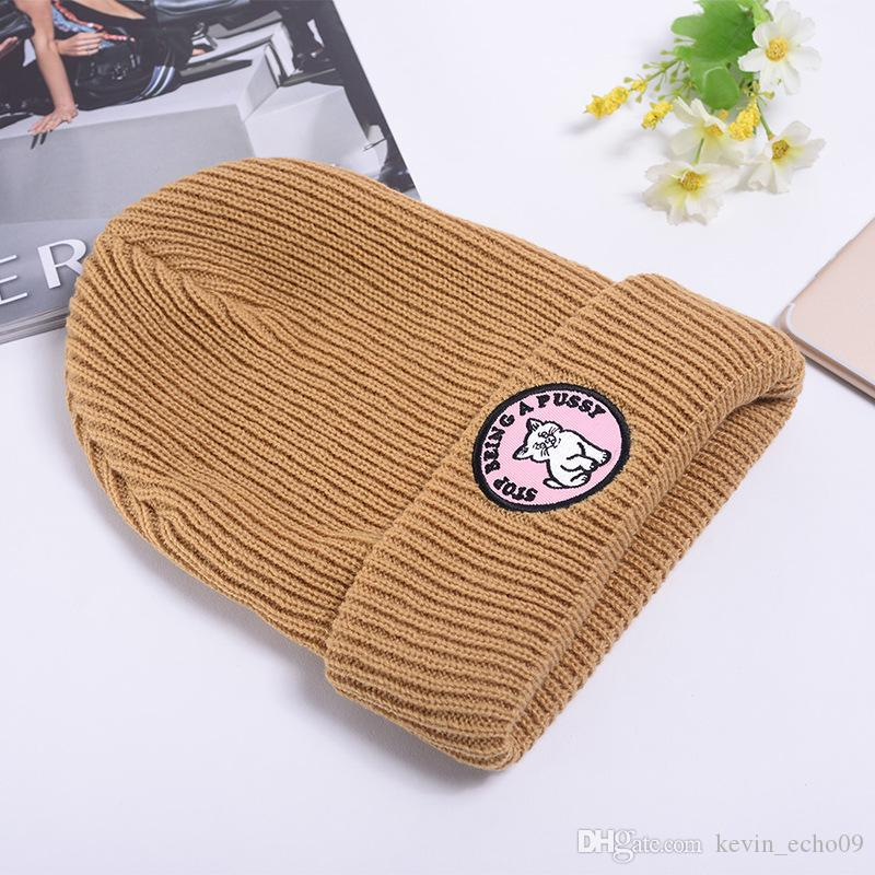 Hello Kitty Cat Embroidered Beanies Men Women Unisex Beanies Casual Knitted Skateboard Skull Caps Outdoor Couple Tide Hats