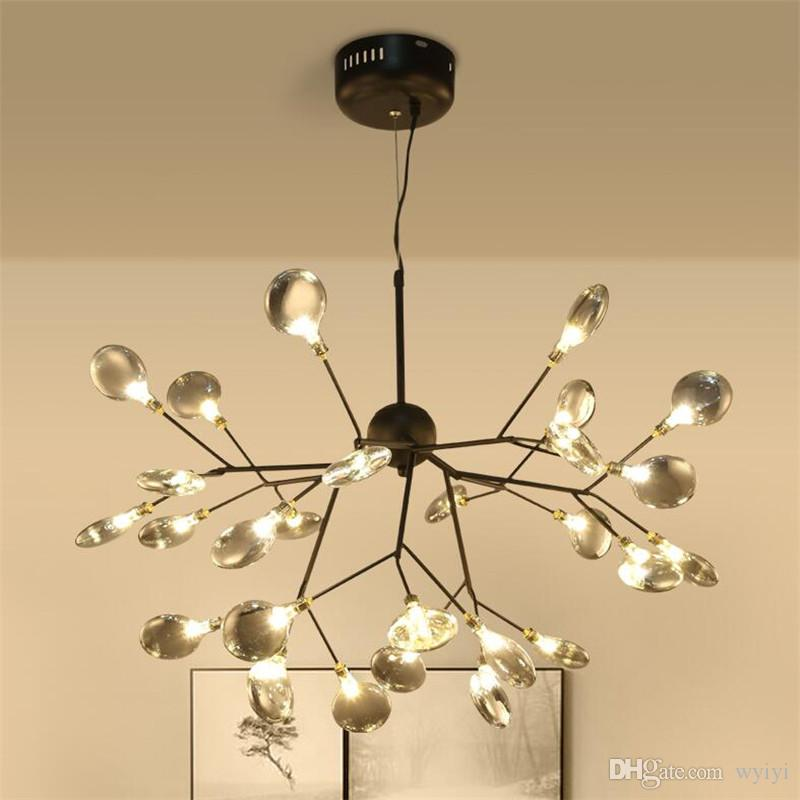 Ceiling Lights & Fans Lights & Lighting Modern Led Luminaires Wooden Chandelier Loft Novelty Fixtures Nordic Hanging Lights Childrens Lighting Living Room Chandeliers