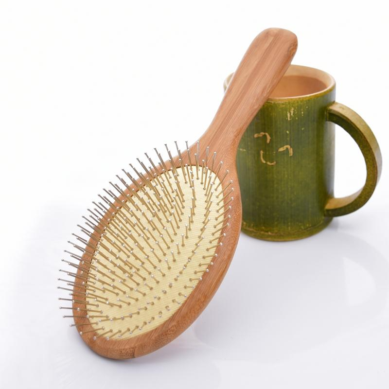 Natural Wooden Massage Airbag Comb care Hair Care Hair Brush and Beauty SPA Massager Comb Antistatic Head Wooden SY17D5