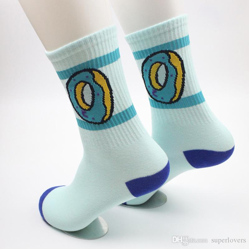 Donuts Socks For Unisex Fashion Men's Cotton Socks Hip-Hop Skateboard Socks Towel Stocking Outdoor Athletic Sock