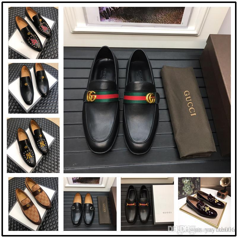 e6b4ec9883006 Top Quality brand Formal Dress Shoes For Gentle Men Black Genuine Leather  Shoes Pointed Toe Men's Woven leather Business Oxfords Si