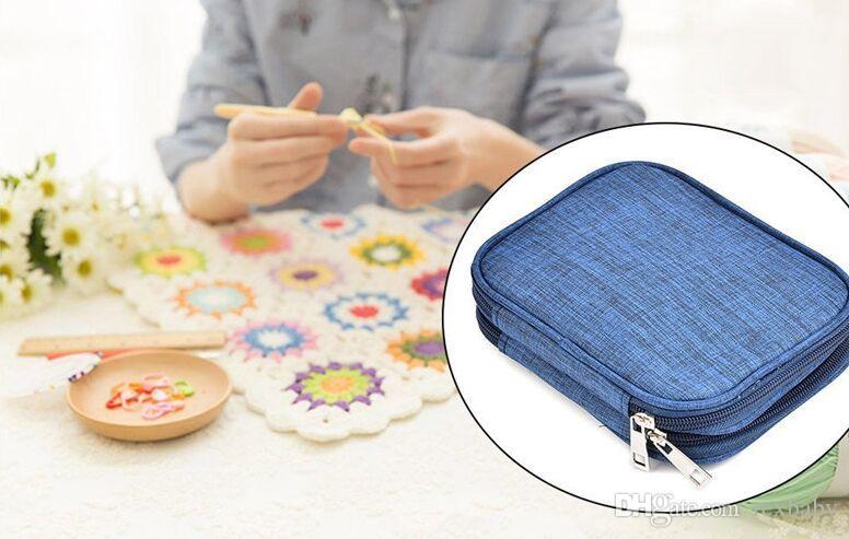 Ganchos de ganchillo Set 72 unids Mix 21 Tamaños Aguja de goma suave Hilo de tejer conjunto de agujas con estuche azul Mujeres DIY Craft Tools Accesorio