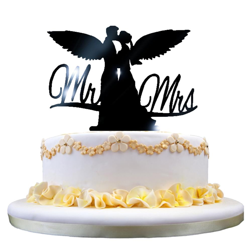 1615cm Romantic Acrylic Cake Decorating Topper Mr Mrs Wedding Cake