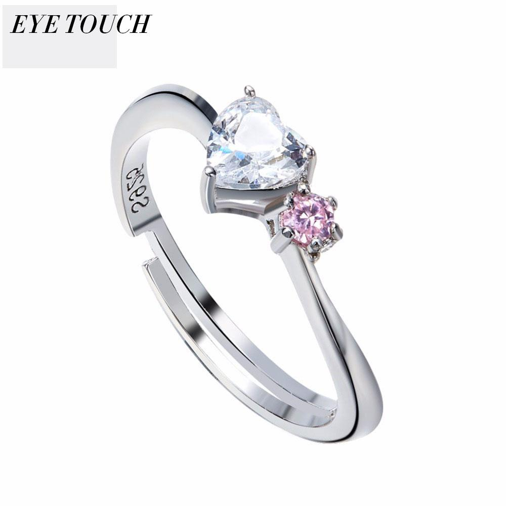 Wholesale EYE TOUCH Crystal From Swarovski Luxury Ring Fashion Romantic  Anniversary Engagement Women Jewelry Elegant Women Ring New Gift Online  with ... b4aa37444b10