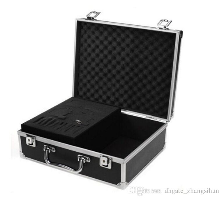 New Hot High Quality Large Tattoo Kit Carrying Black Colors Case with Lock free shopping