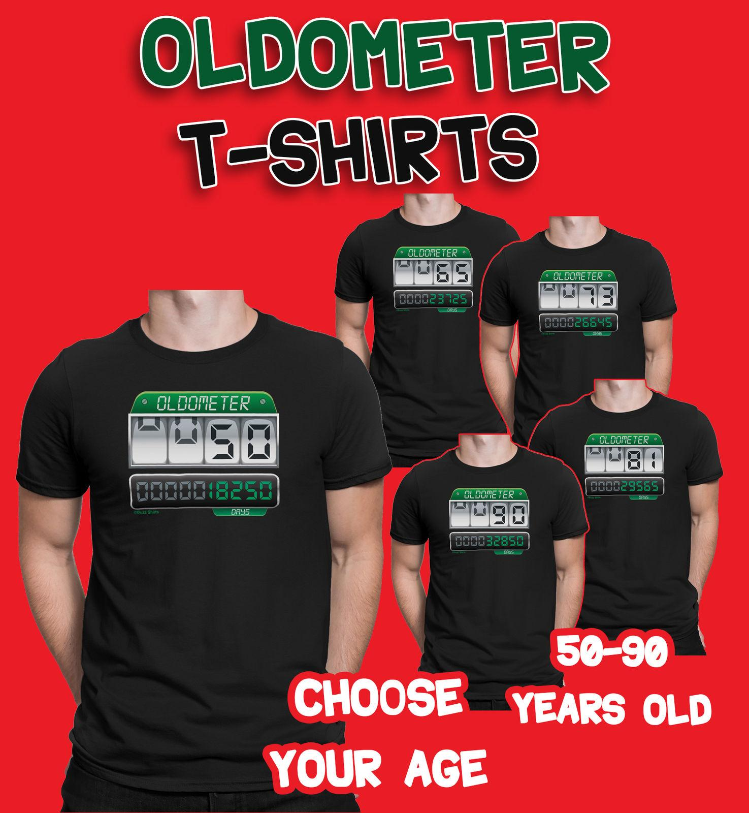Mens 50th To 90th BIRTHDAY TShirts OLDOMETER 50 90 Years Old Joke Gift Online Shop T Shirt Shirts Designer From Nkotshirts 1101
