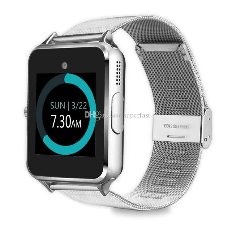 Z60 Smart Watch Bluetooth Smart Watches Support SIM Record Sleep State TF Card Stainless Steel Fitness Tracker For Android And IOS