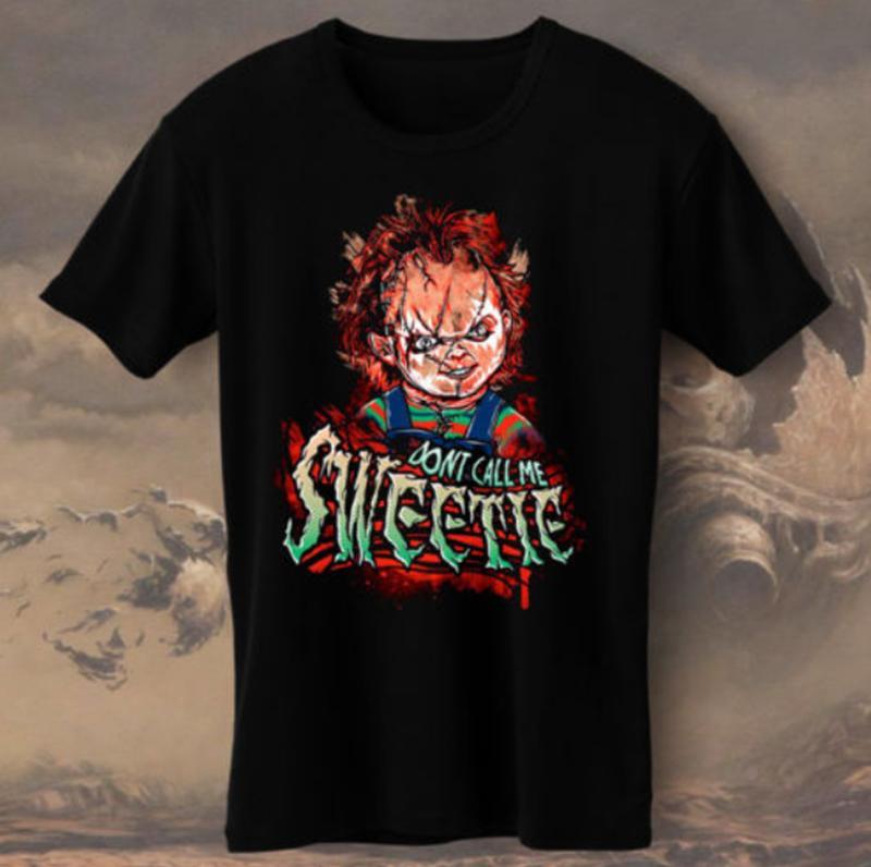 Mujer Película T015 Bride Of Chucky Tops 3d 2018 De Print Camiseta Moda Hombre Terror Para Qsrdth
