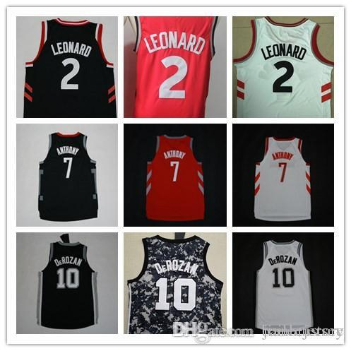 a1e6c91b0 2018 Men Stitched Transfer Jersey City 2 Kawhi Leonard 10 Demar Derozan 7  Carmelo Anthony Jersey Shirt Fast From Baileejersey