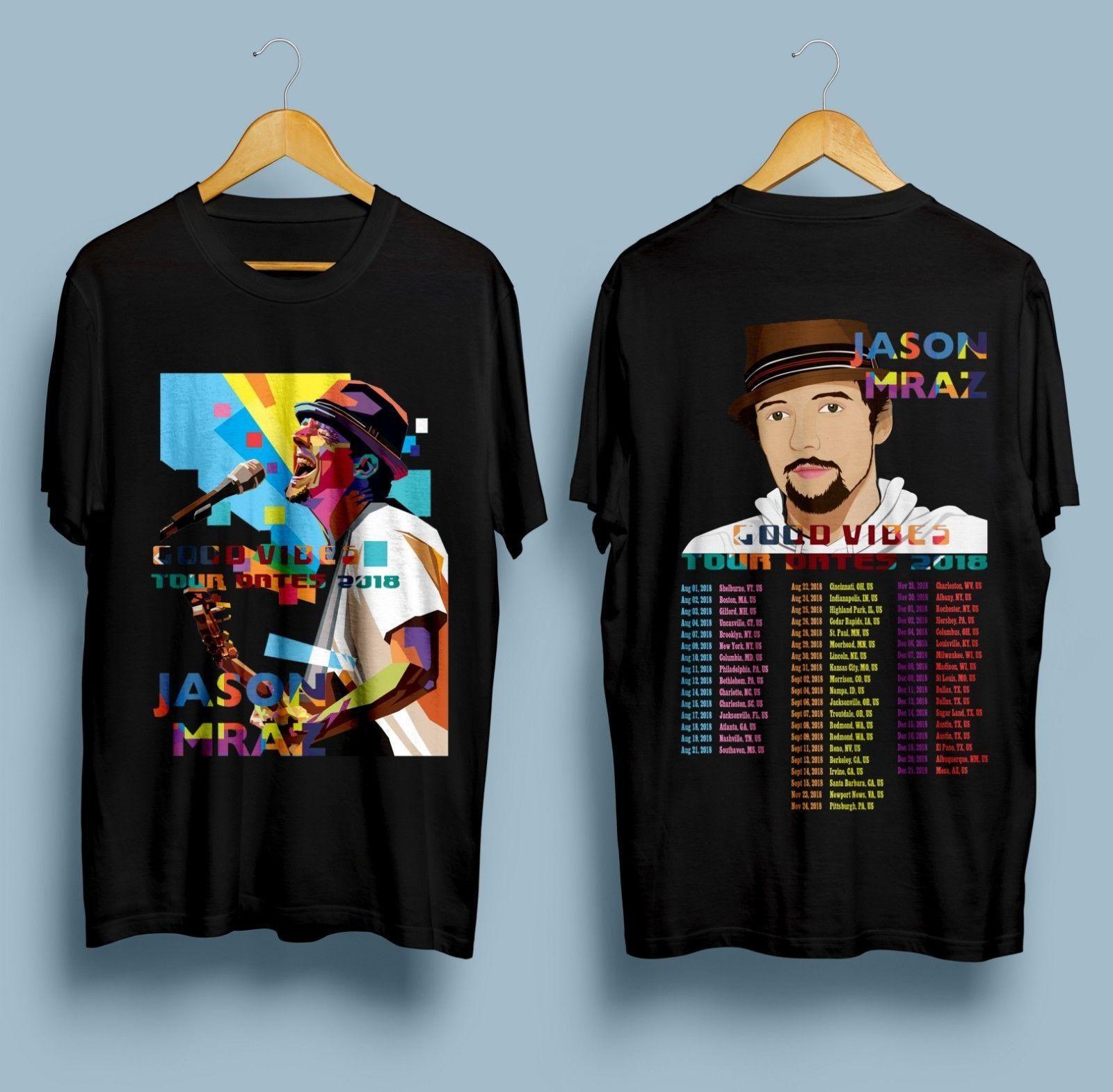 New Jason Mraz Good Vibes Tour Dates 2018 T Shirt Fashion Unique