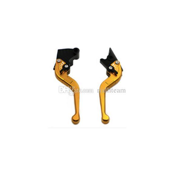 الجملة 7 ألوان منتظم قصيرة CNC الألومنيوم دراجة نارية الفرامل عتلات لYAMAHA YZF R6 2005-2015 / YZF R1 2004-2008