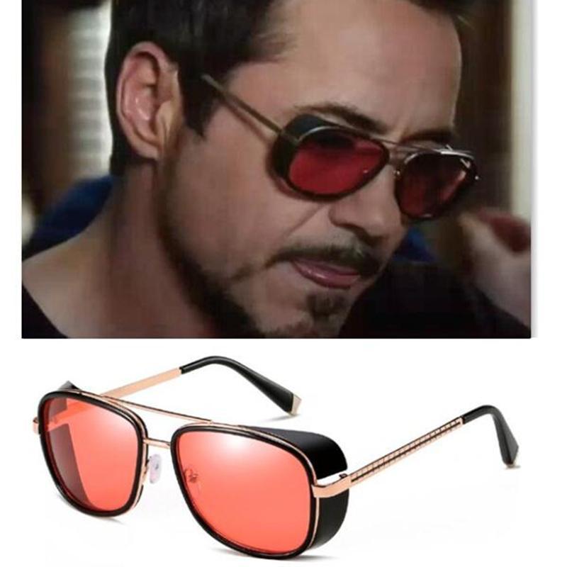 b37fc303922c3 Compre REALSTAR Steampunk Óculos De Sol Dos Homens Tony Stark Homem De  Ferro Matsuda Óculos De Sol Retro Vintage Óculos De Sol Óculos De Sol UV400  Oculos ...