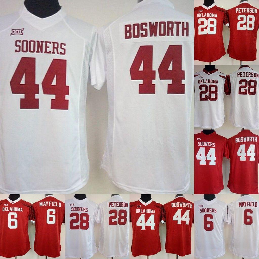b236b0d4e NCAA Womens Oklahoma Sooners College Jerseys  44 BOSWORTH 28 ...