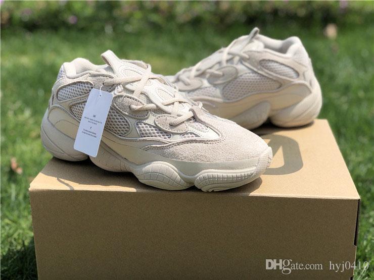 084d3431e Compre El Nuevo Lanzamiento Kanye West 500 Desert Rat Super Moon Amarillo  Zapatillas Para Hombres Brand Blush Spring Utility Black Sneakers A  130.66  Del ...