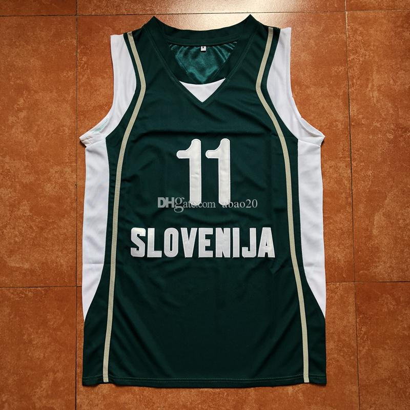 Acheter Dragic Goran Slovenija Équipe 11 Hommes Basketball Jersey 4Arfq4wg