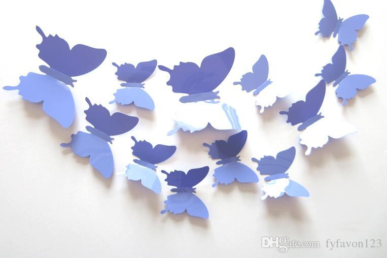 top =3D Butterfly Wall Stickers Butterflies Docors Art / DIY Decorations Paper mixed colors hot sale a146