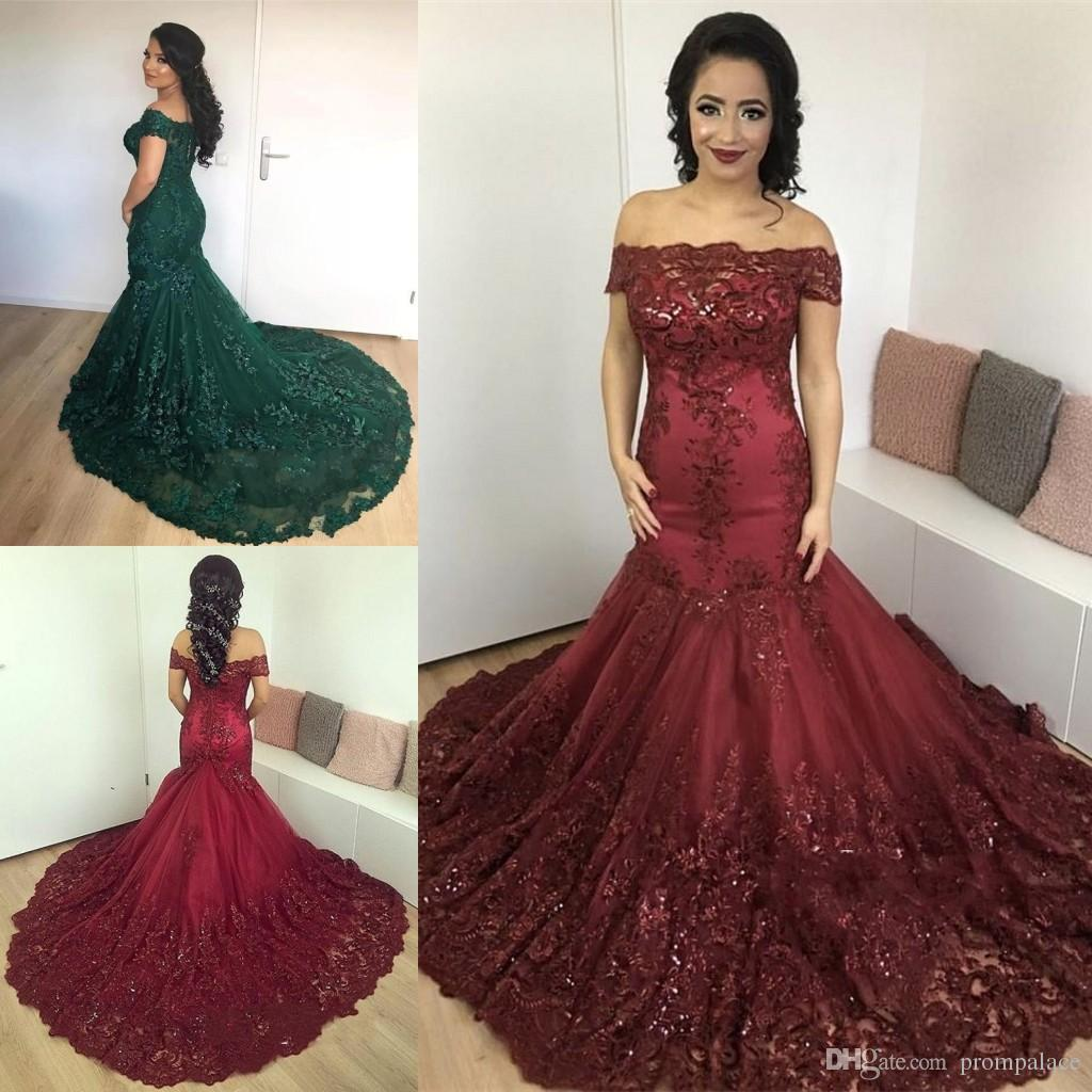 78394617a70 Sexy Mother Of The Bride Dresses Off Shoulder Mermaid Capped Sleeves Lace  Appliques Mother S Dress Elegant Evening Dress Mother Of The Groom Dresses  For ...