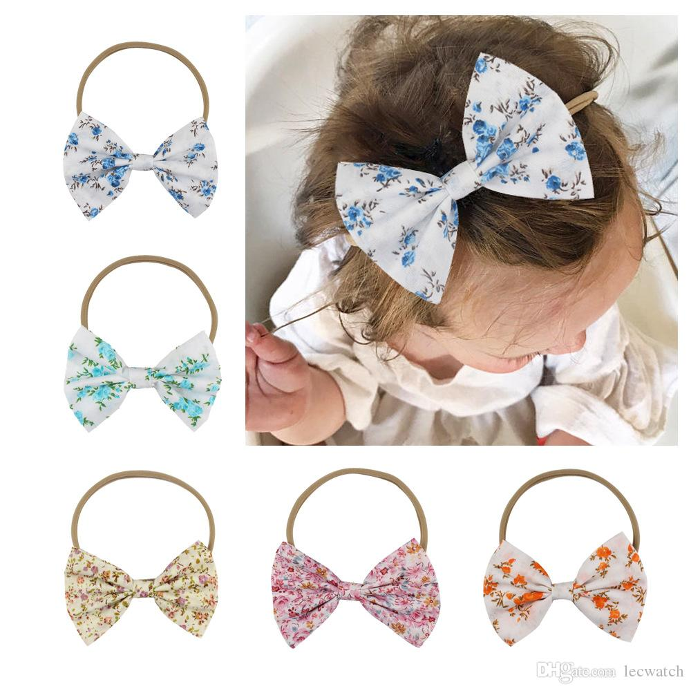 Korea Fabric Tie Knot Hair Ands Embroidery Hairband Flower Crown Headbands For Girls Hair Bows Hair Accessories D Girl's Hair Accessories