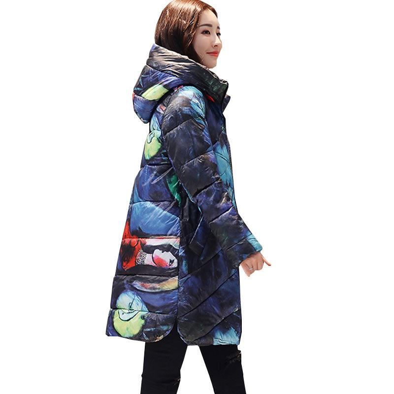 1dd31873551 2019 New Ukraine Hooded Printed Thicker Winter Down Cotton Jacket ...