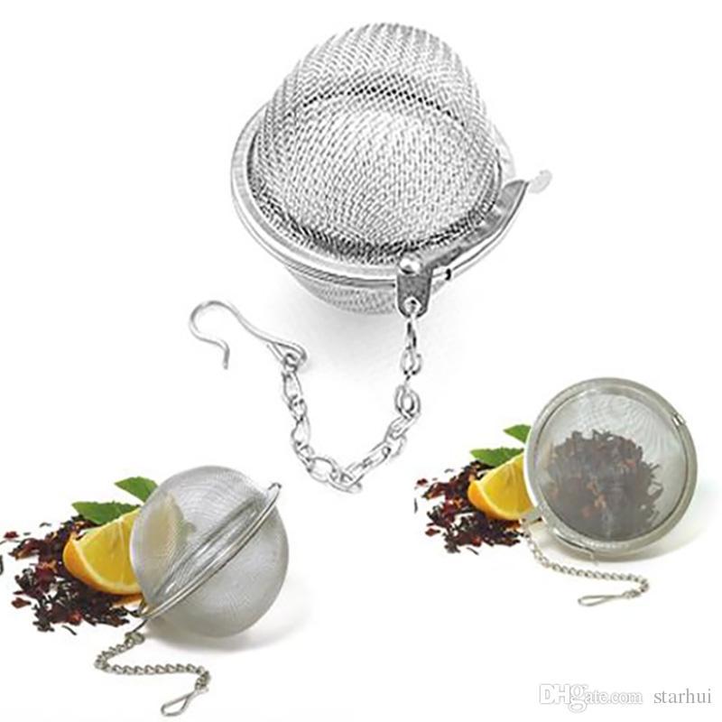 الفولاذ المقاوم للصدأ شبكة كرات الشاي 5 سنتيمتر التحلل مصافي الشاي مرشحات الفاصل الناشر للشاي أدوات المطبخ الطعام بار WX9-378