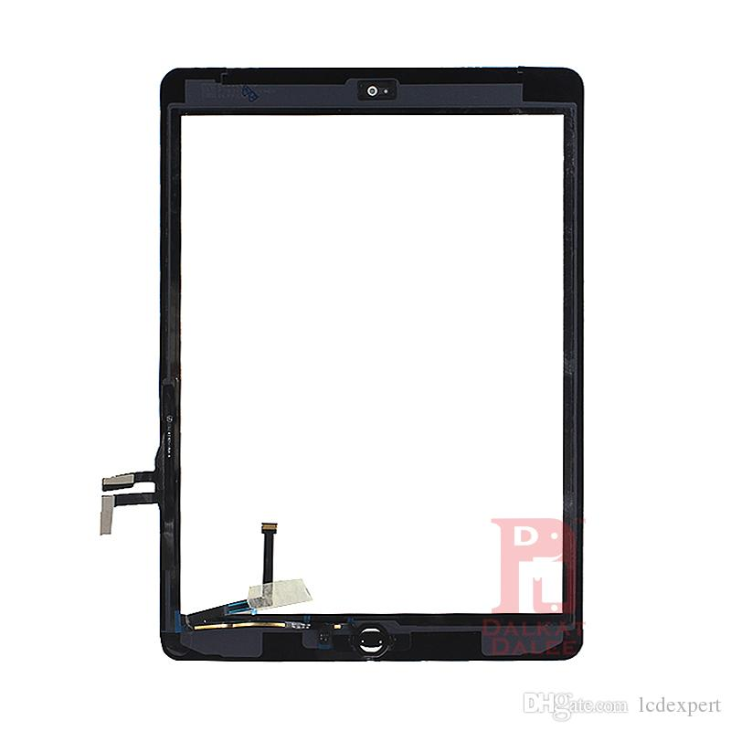 For iPad air 1 For ipad 5 Digitizer Screen Touch Screens Glass Assembly with Home Button Adhesive Glue Sticker Replacement Parts A1474 A1475