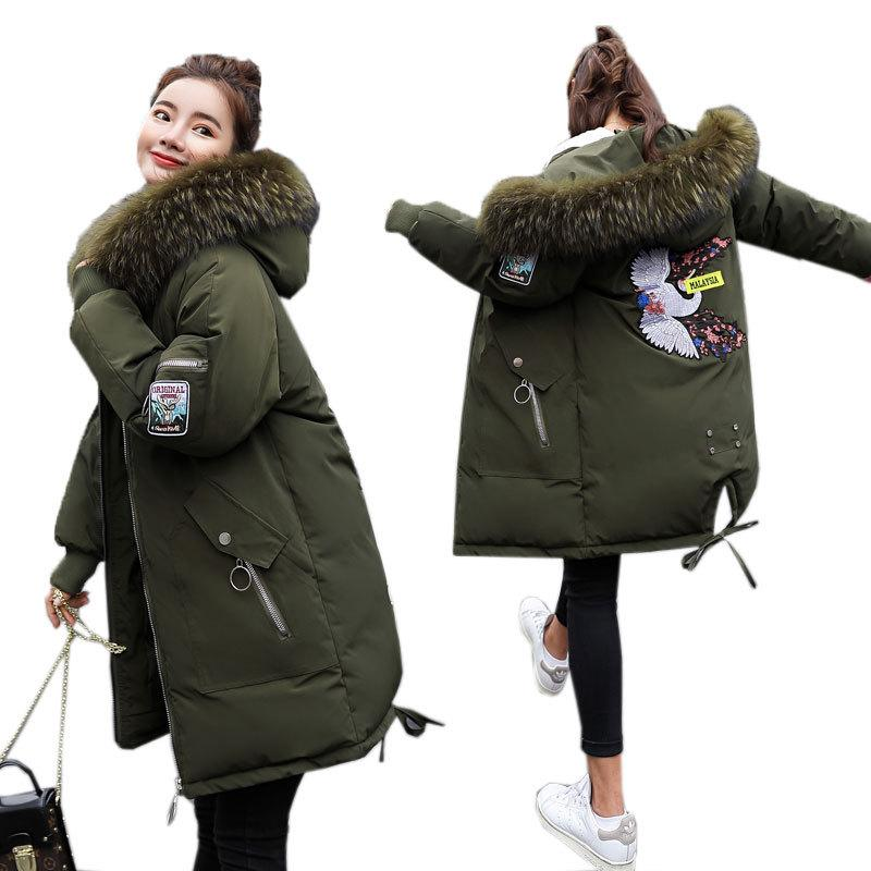 310a8efc6ba 2019 New Plus Size Winter Women Jacket Long Thick Parka Jacket Big ...