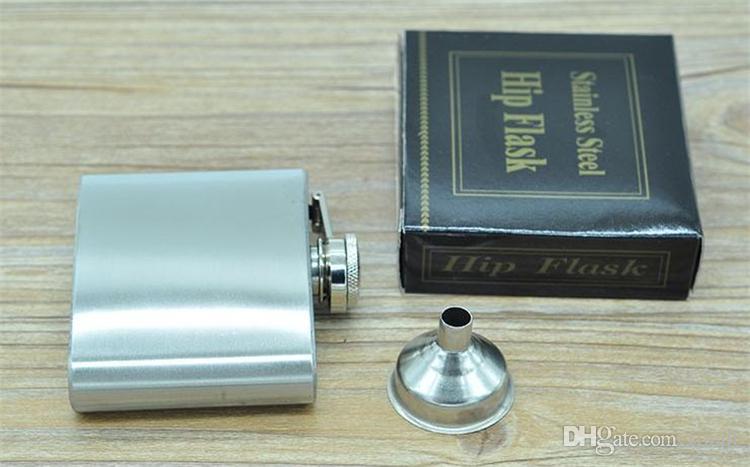 New hot 4 onces en acier inoxydable hip flasques flacon de bière de poche flacons fiole à vin flacon de vin 1775