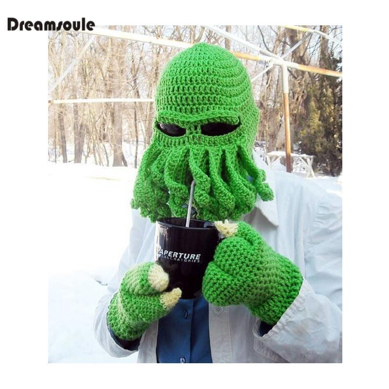 2018 Dreamsoule Handmade Craft Hat Warm Cap Hand Knit Helmet Double ...