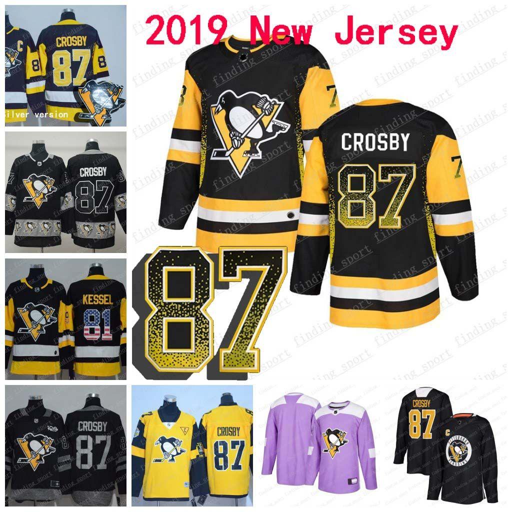 4c4032b6783 2019 2019 New Pittsburgh Penguins87 Sidney Crosby 72 Hornqvist 71 Evgeni  Malkin 81 Phil Kessel Home Fashion Printing Gradient Hockey Jerseys From  Fanatics04 ...
