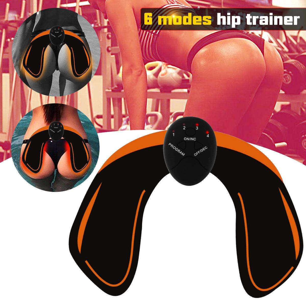 EMS Electrical Hips Trainer Abs Trainer Smart Fitness Training Gear Home Office Ab Workout Equipment Machine Buttocks Butt Stimulator