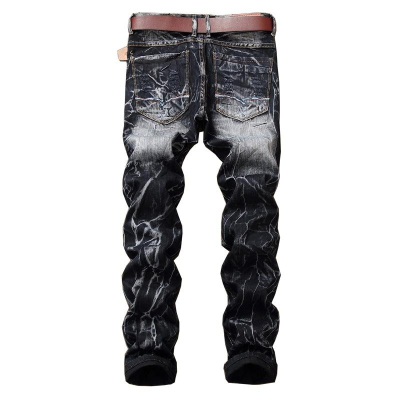 8d2d5dee5c5 LEFT ROM New Product 2018 High-grade Men Thin Body Ripped Trousers ...