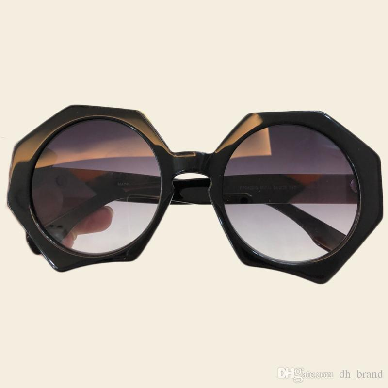 527afd8c8c4 Brand Designer Polygon Sunglasses Women 2018 High Quality New Round  Gradient Mirror Sunglasses Women Big Acetate Frame Sun Glasses Cateye  Designer ...