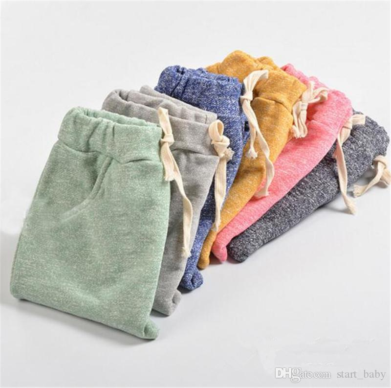Kids spring autumn cotton Harem pants 5 sizes for 2-8T boys girls children causal sports pants trousers B11