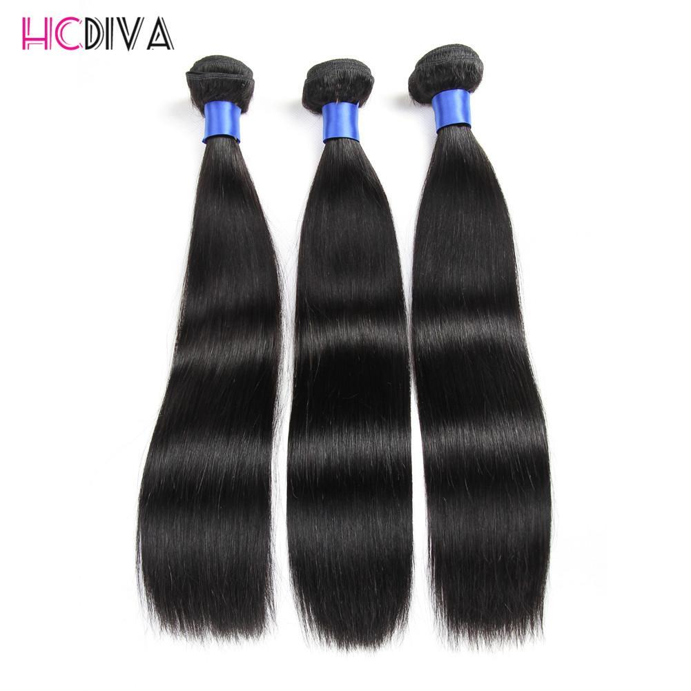 Extensiones peruanas malasias de la India brasileña Virginal recta del pelo humano Grado 7A 3 paquetes 100% de color natural sin procesar Venta al por mayor