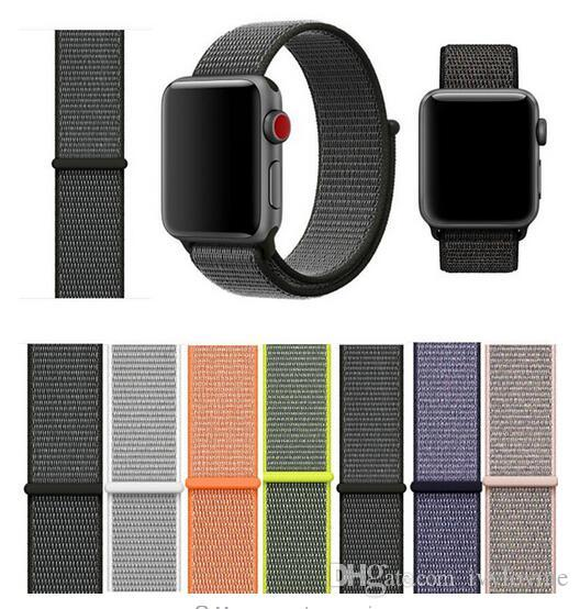 Correa de nudo deportivo para Apple Watch Band 42 mm 38 mm Serie 1 2 3 Bandas de nylon tejidas Correas de repuesto para Iwatch