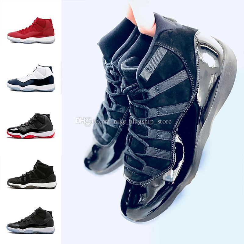 2018 Bred High Cap And Gown 11 Xi Women Men Basketball Shoes Gym Red Prom  Night Concord Midnight Navy Prm Heiress Sports Sneakers Mens Basketball  Shoes Men ...