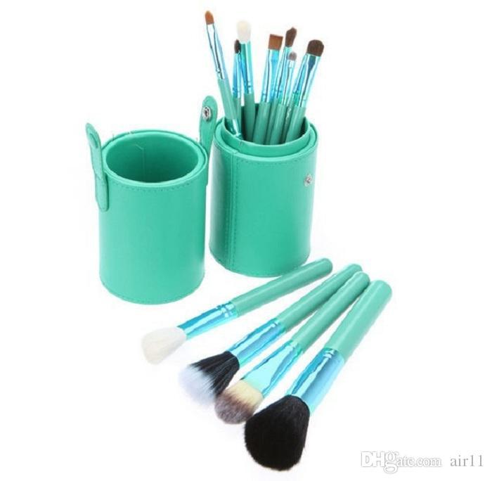 Makeup Brush Set + Cup Holder Professional Makeup Brushes Set مستحضرات التجميل مع حامل كأس Cylinder