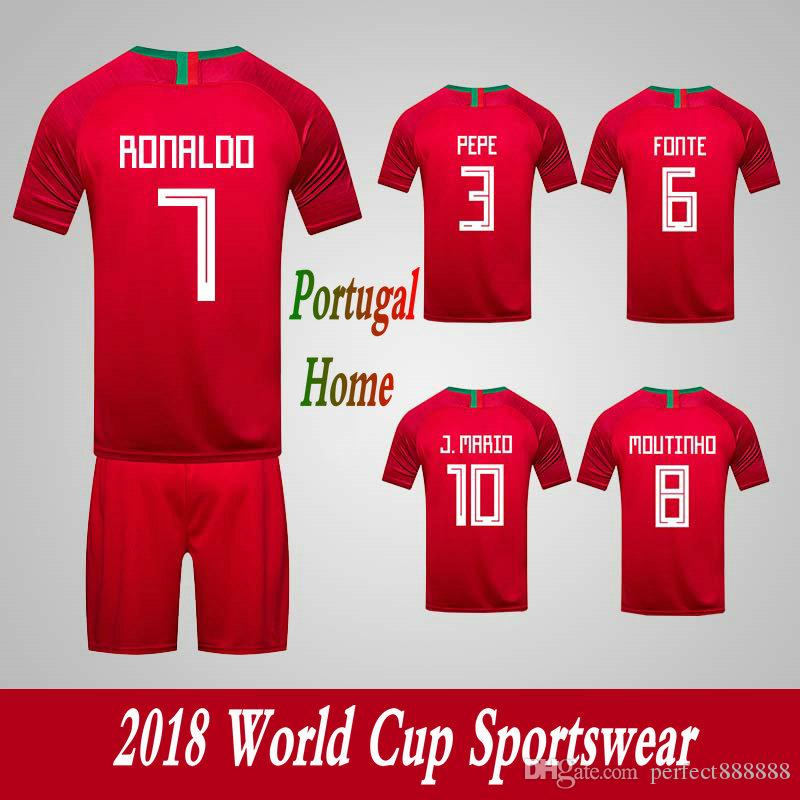781155120c4 Men's Tracksuits Portugal National Team Home Football Sport Suits 2018  World Cup Soccer Uniform Clothes Shorts