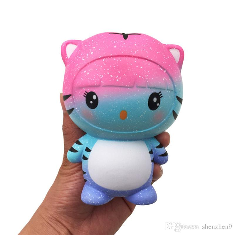 CuteTiger Squishy Toys Kawaii Animal Slow Rising Jumbo Squeeze Phone Charms Stress Reliever Kids Gift STY034