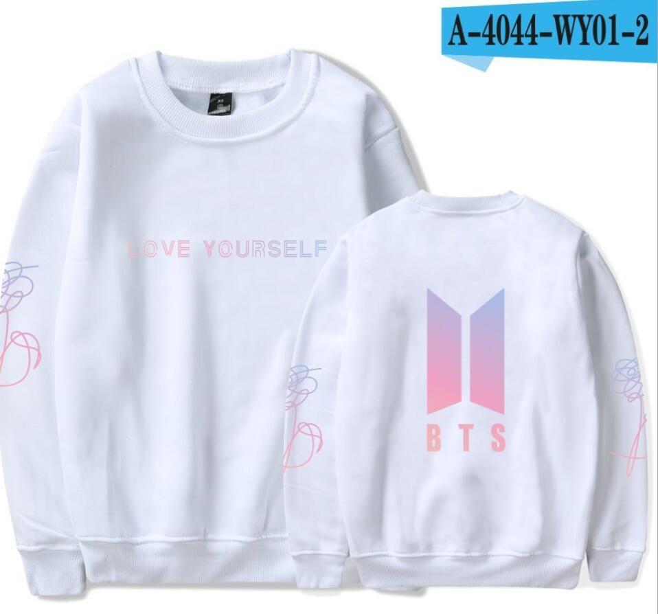 BTS Hoodie Kpop Love Yourself Round Neck Sweatshirt Women Hoodies Autumn  Korean female streetwear k pop Clothes