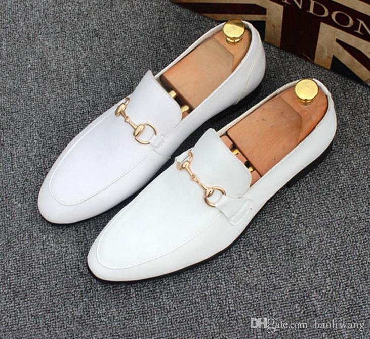 Zapatos de los hombres de los zapatos grandes de la zapatilla de deporte de la parte inferior de los zapatos de boda del partido de lujo, cuero genuino Louisfalt picos con cordones de los zapatos ocasionales de vestir zapatos mens37-45h22