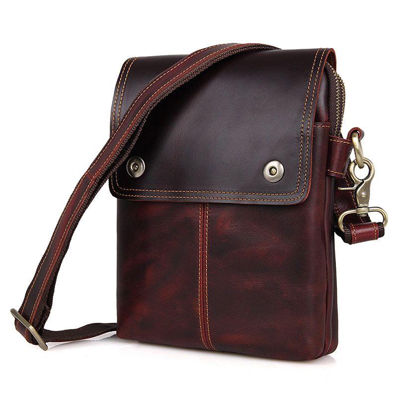 Nesitu New High Quality Genuine Leather Small Men Messenger Bags Male Bag  For Mini Ipad Real Skin Men S Shoulder Bag M1006 Designer Handbags On Sale  Purses ... 162b6c7ac2307
