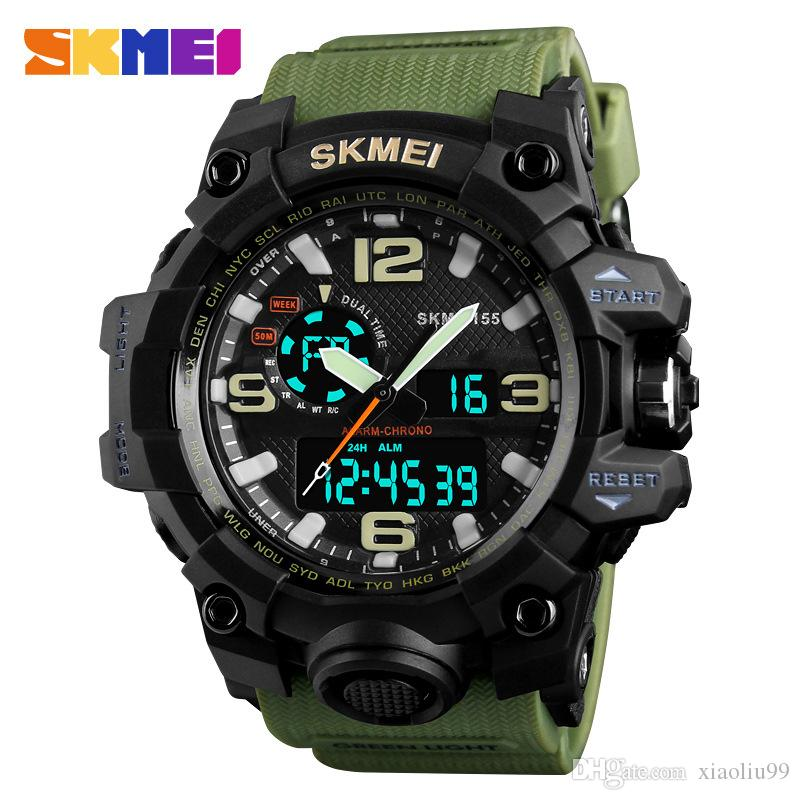 SKMEI 1155B Sports Watch Men Top Brand Luxury Famous LED Digital