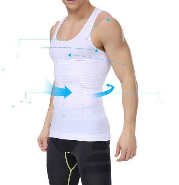 d158f8c4e7 2019 Men Corset Body Slimming Tummy Shaper Running Vest Belly Waist ...
