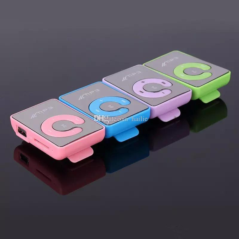 2017 New Mini Clip USB Digital Mp3 Music Player Sport MP3 With Micro SD TF Card Slot MP3 Player  Only a player without USB