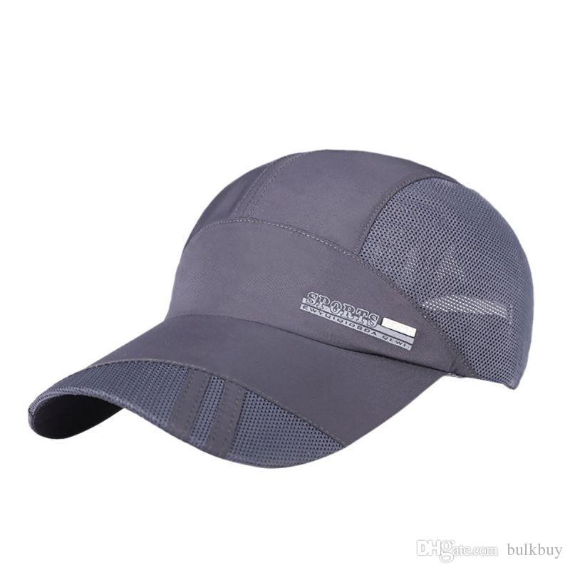 Outdoor Hiking Camping Breathable Popular Mens Summer Sports Cap Running Visor Caps