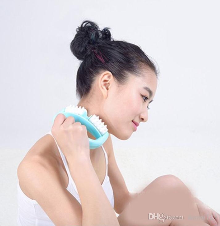 cura della salute gomma gomma dolore sollievo cellulite rulli massaggio corpo spine plastica fancinante manuale massaggiatore rullo
